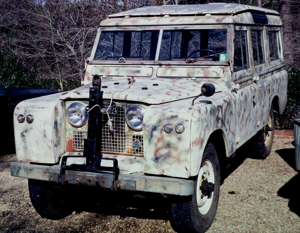 "The 1966 109 had this lovely ""camo"" paint scheme on it in 1979."