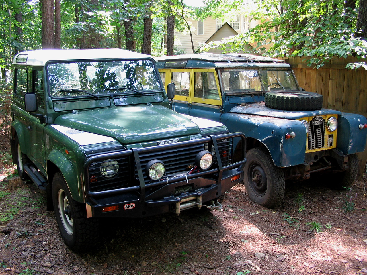 two diesels - D-90 with 300 Tdi and 109 with 2.25 diesel