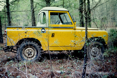 1967 88 on an excursion in the woods shortly after I repainted it Corvette chrome yellow.