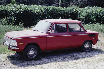 1970? NSU 1200 - rear engine OHC air cooled 4 cylinder motor - about a 3/4 scale Corvair clone