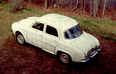 My first car - a 1960 Renault Dauphine - dad paid $50 for it and gave it to me for my 16th birthday. A real POS - it never ran for more than 1/2 hour and I learned to never leave the driveway without a tow rope to get it home.