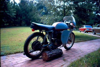 Ossa Wildfire - this bike was raced at Daytona by the previous owner - I added lights and a (small) muffler and used it as a street bike.
