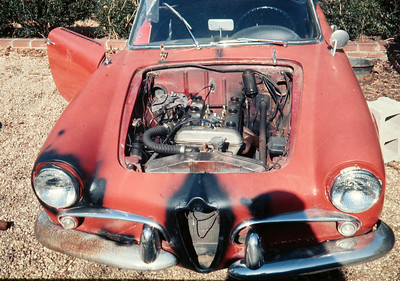 A view of the 1300 cc twin cam Alfa engine