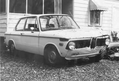 1968 BMW 1600 with front end sheet metal damage - still ran pretty well - paid around $200 for it sometime around 1975.
