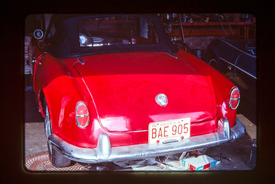The red Alfa a couple of years after I sold it - next owner did a nice restoration.