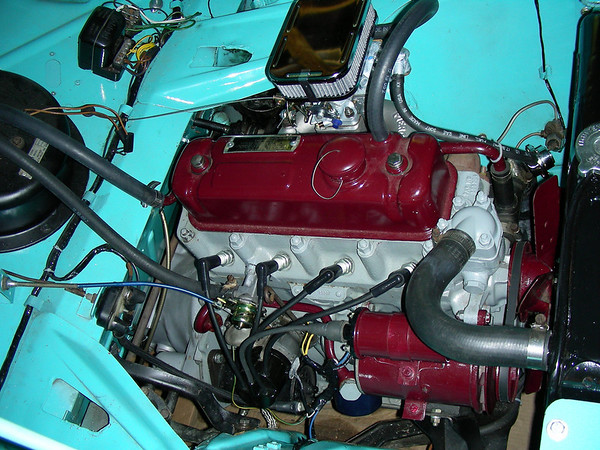 1960 Nash Metropolitan engine compartment
