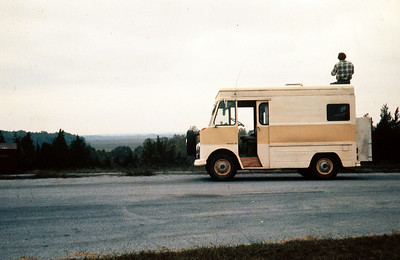 1963 Chevrolet Step-Van camper on the Natchez Trace - 1974