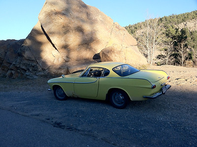 My 66 Volvo P1800S on Peak to Peak Hwy. above Boulder, CO