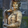 Steampunk Lady Living Statue at the Fringe Festival in Edinburgh - 7 August 2014