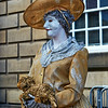 Living Statue at the Fringe Festiva in Edinburgh - 7 August 2014