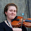 Violinist at the Fringe Festival Fun in Edinburgh - 7 August 2014