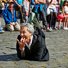 Playful and Playing to the Camera at the Fringe Festival in Edinburgh - 7 August 2014