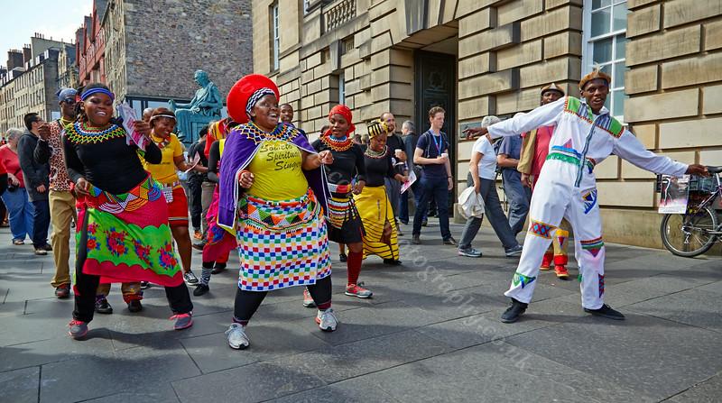 Soweto Spiritual Singers Having Fringe Festival Fun in Edinburgh - 7 August 2014