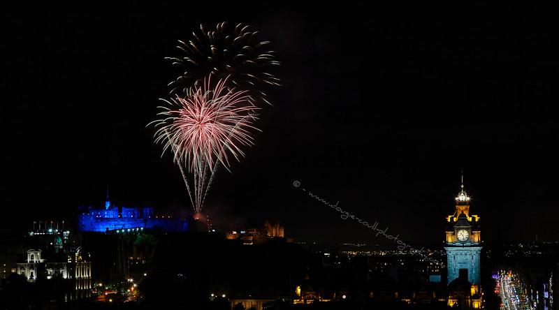 Tattoo Fireworks over the Castle at Edinburgh - 27 August 2015