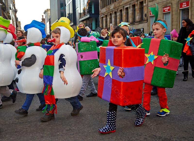 Kids at the Christmas Carnival in Glasgow - 23 November 2014
