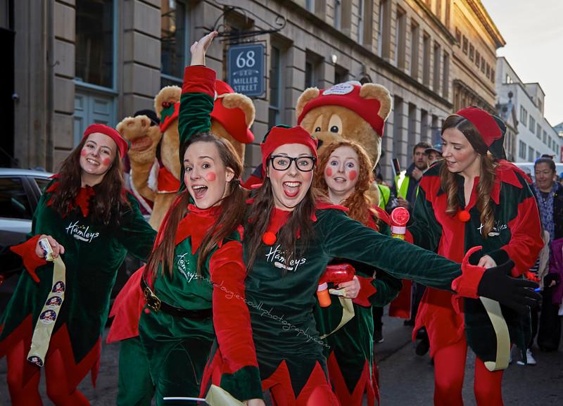 Christmas Carnival Parade in Glasgow - 22 November 2015