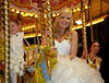 Happy Bride on the Carousel - George Square - 29 December 2012