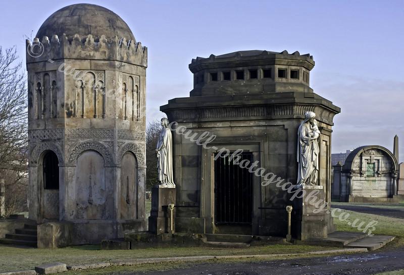 Necropolis - John Houldsworth Mausoleum to the right