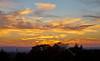 Sunset from  Ruchill Park in Glasgow - 29 September 2013