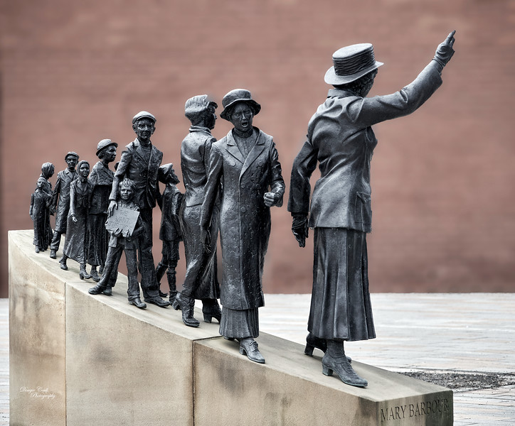 Mary Barbour Sculpture at Govan Area in Glasgow - 27 February 2021