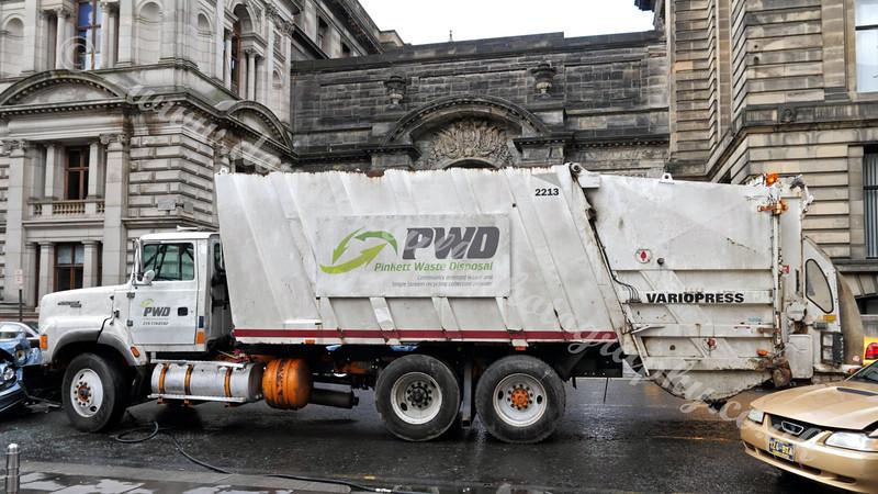 World War Z  Filming - Garbage Wagon Before Wrecking - 21 August 2011