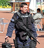 World War Z - SWAT Cop - George Square - 25 August 2011