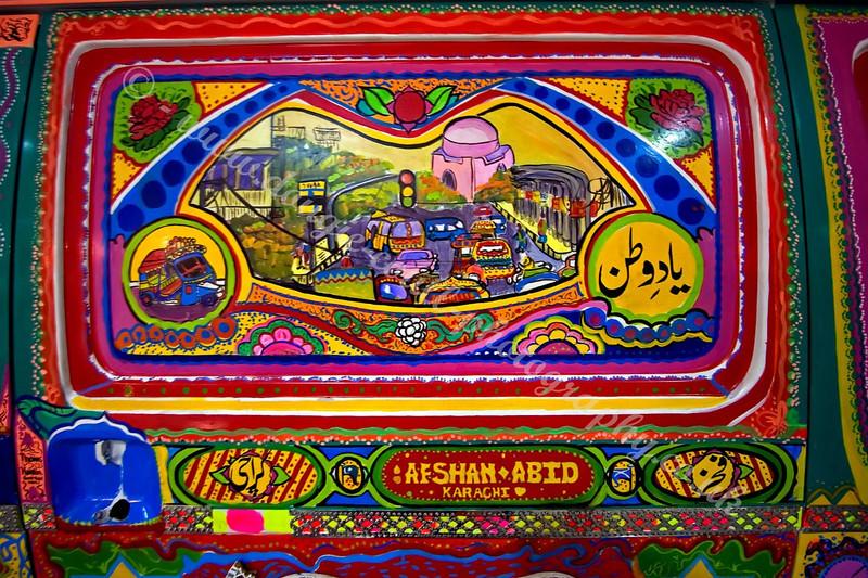Decorated Van