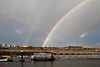 River Clyde Rainbow View - From Riverside Museum - 25 November 2011