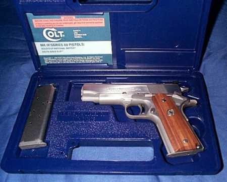 "Colt Gold Cup Commander 80 Series .45ACP 4.25"" Stainless Steel SN#GCC272 (1992) $1295."