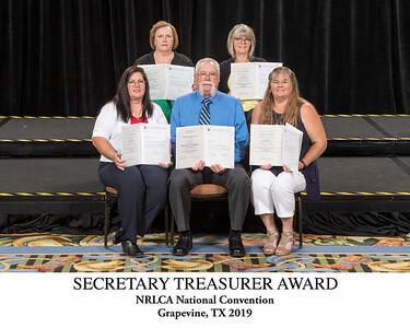 101 Secretary Treasurer Award Titled