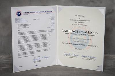 Lifetime Honorary Membership - Larry Waligora 151815