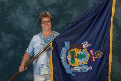 111 Deb Maddox Maine State President Flag Ceremony 140207