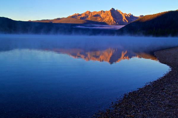 Blue Dawn Over Redfish Lake