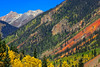 Colorado's San Juan Skyway wind through narrow canyons and open valleys, overlooking spectacular views of 14,000 ft. mountain peaks, and is speckled with historic mines and victorian towns