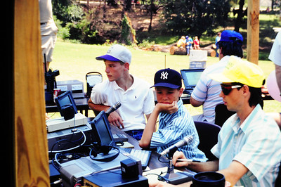 Jason & Jeremy Wilkinson at a ham radio station for a 4th of July Parade in early 1990.
