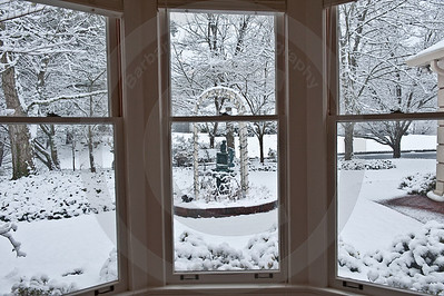 Take a look out Dad's bay windows onto a Winter Wonderland