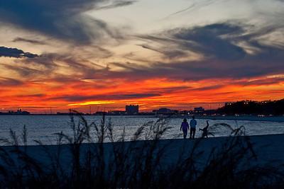 Cartwheel sunset over Gulfport