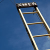 "Amen Sun. October 3, 2010 (Day 126)  A wooden sculptures studded with metal letters — AMEN, reads the top of a wooden ladder.    In another week, we should closing on our new house! Amen to that!  This photo was taken in front of the <a href=""http://www.beercanhouse.org/"">Beer Can House</a>- Houston, Texas."