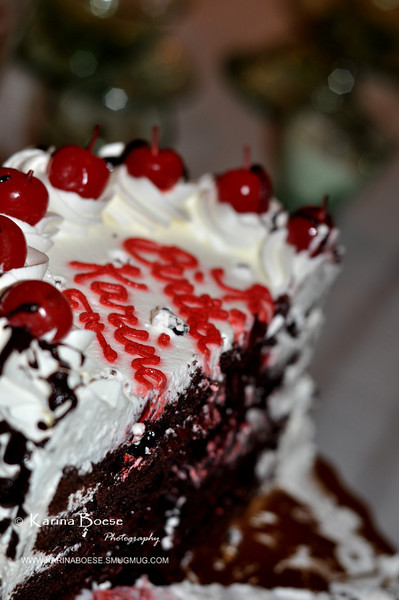 Birthday Cake<br /> Sat. Nov. 26, 2011 (Day 8)<br /> <br /> My mother-in-law bought this yummy black forest cake for desert. <br /> Oh.. I feel so old!