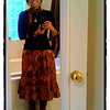 Batik for The Day<br /> Thu. January 3, 201 (day 253)<br /> <br /> I just love this cold weather that we have in Houston.<br /> To be able to wear my boots to match my 'batik' skirt and syal was a treat of the day!