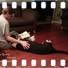 Bed Time Story<br /> Fri. January 25, 2013 (day 263)<br /> <br /> Patches, our little girl is getting really big. She will be 1-year old tomorrow. <br /> She is definitely getting better everyday; most importantly, she listens to her pack leader very well! Oh, yeah... and that's not me.