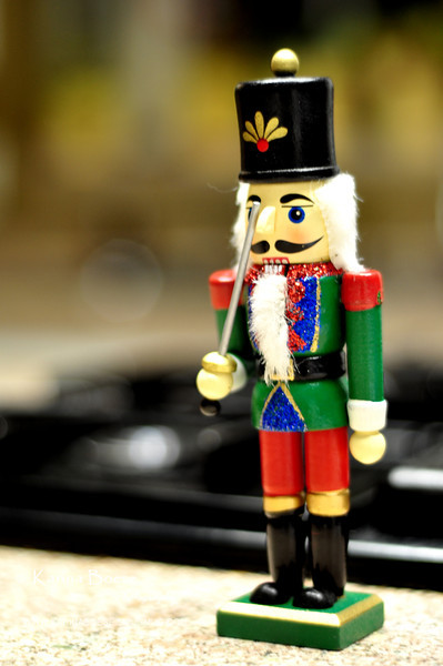 Christmas Soldier Nutcracker <br /> Mon. Dec. 5, 2011 (Day 17)<br /> <br /> Thought I would get some kind of holiday spirit this weekend and decorate my house.  I ended up just having this guy on my kitchen counter... and all the holiday decorations are still in their boxes.<br /> <br /> Being at the office until very late today didn't help either.  Some say, 'there'll be tomorrow'.  I'll take that!