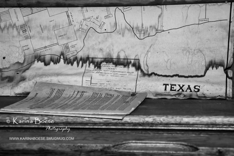 Texas Old Map<br /> Sun. March 4, 2012 (day 99)<br /> <br /> One of the old maps of Texas inside Old Katy Post Office Museum.