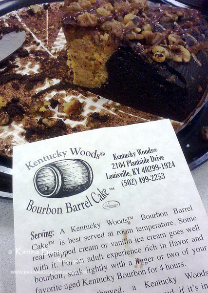 Kentucky Woods Bourbon Barrel Cake<br /> Fri. January 11, 2013 (day 258)<br /> <br /> <br /> Oh my goodness... this cake has a taste of heaven!