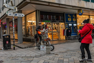 Busking on a street corner in Bratislava