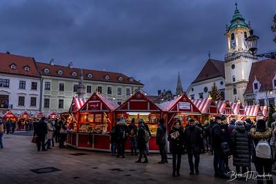 A Christmas Market in Bratislava