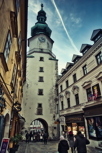 The bulbous yet elegant copper roof of Michael's Gate is one of the symbols of Bratislava.