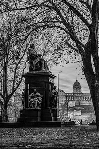 A statue in Budapest