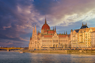 Budapest glows in the setting sun