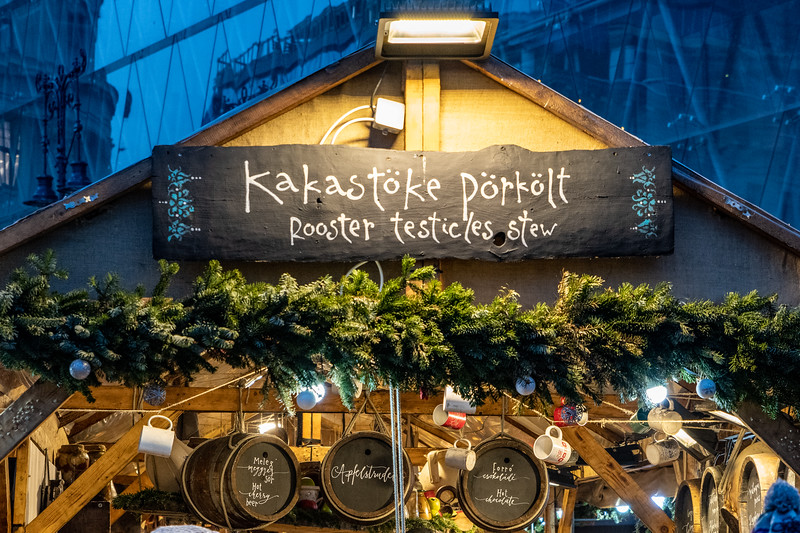 A stall in a Christmas Market in Budapest
